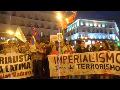 Madrid, 13 de septiembre de 2016: Manifestación contra la injerencia imperialista contra Venezuela