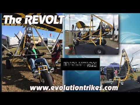 Revolt, Evolution Trikes Revolt two seat weight shift light sport aircraft, by Larry Mednick. (видео)
