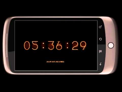 Video of zooNixieImageClock