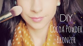 DIY Cocoa Powder Bronzer - YouTube