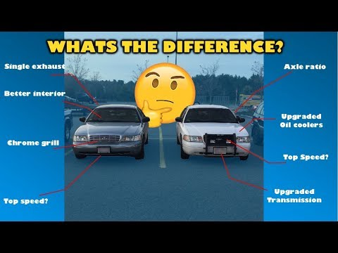 Crown Victoria vs Crown Victoria Police Interceptor. WHATS THE DIFFERENCE?!