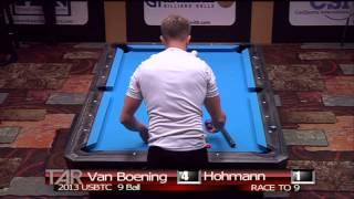 2013 USBTC 9 Ball Division. Shane Van Boening Vs Thorsten Hohmann