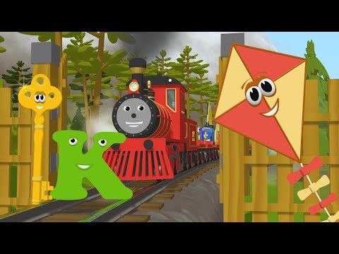 Learn about the Letter K - The Alphabet Adventure With Alice And Shawn The Train (видео)
