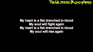 Papa Roach - My Heart Is A Fist {Lyrics on screen} HD