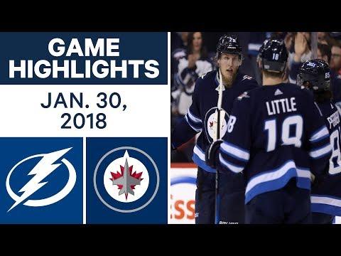 Video: NHL Game Highlights | Lightning vs. Jets - Jan. 30, 2018