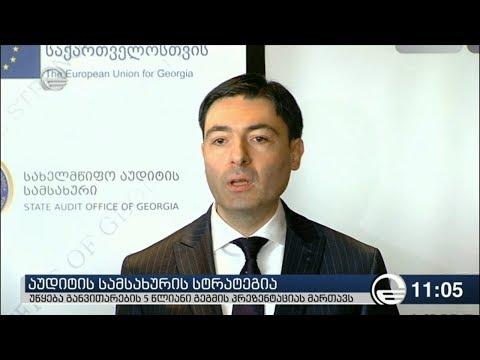 აუდიტის სამსახურმა 2018-2022 წლების განვითარების სტრატეგია წარადგინა