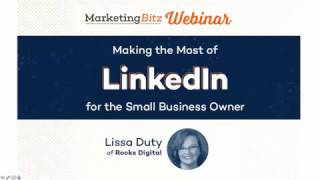 Making the Most of LinkedIn for the Small Business Owner