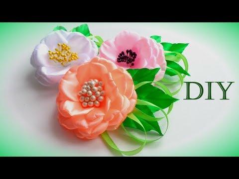 Цветы из лент своими рукам страна мастеров 29