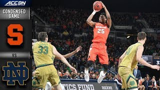 Syracuse vs. Notre Dame - Condensed Game | 2018-19 ACC Basketball