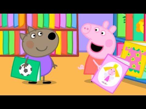 Свинка Пеппа на русском все серии подряд | Пеппа идет в библиотеку | Мультики - DomaVideo.Ru