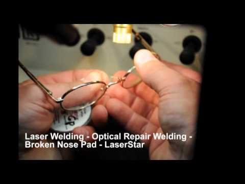 <h3>Laser Welding - Eyeglass Frame Repair </h3>In this laser welding video,we demonstrate how to repair a broken nose pad arm on eyeglass frames. The repair was done using a LaserStar manual laser welding system which is very useful for optical repair welding.<br><br>