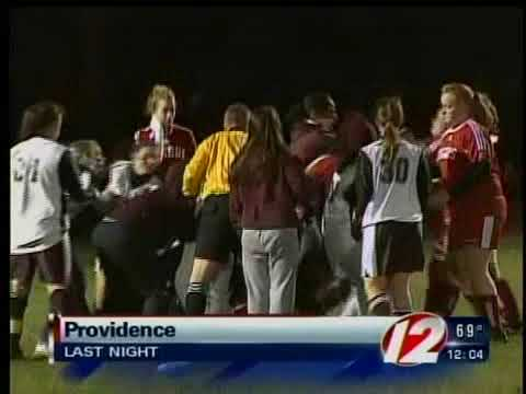 ri soccer_fight - A fight broke out on the soccer field between players at a high school game in Providence Sunday night, and moments later, fans in the stands were coming to ...
