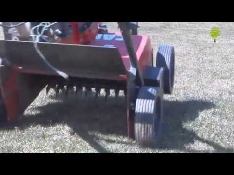 Профессиональные услуги по уходу за газоном: Вычесывание (скарификация)