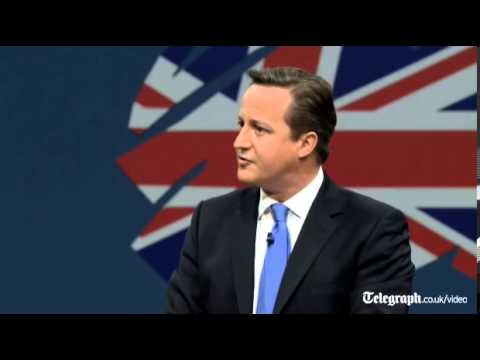 cameron - During his speech to the Conservative Party Conference in Manchester, Prime Minister David Cameron defends Britain and embraces the island mentality. It was ...