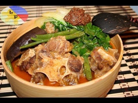 Lutong Pinoy - Step by step on How to cook Kare-kare. Kare-Kare is one of the favourite recipes of Lutong pang Pamilya, oxtail mixed with vegetables like eggplant, string b...