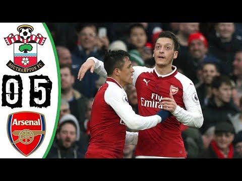 Arsenal vs Southampton 0-5 - All Goals & Highlights Résumé (Last Match) HD