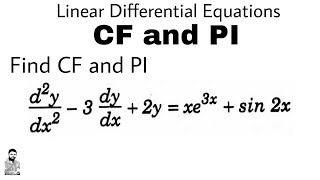 10. CF & PI | Problem#1 | DIFFERENTIAL EQUATIONS OF HIGHER ORDER
