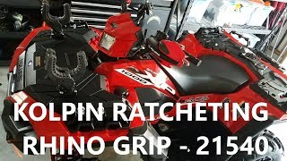 8. Kolpin Ratcheting Rhino Grip install on 2018 Polaris Sportsman XP 1000 ATV