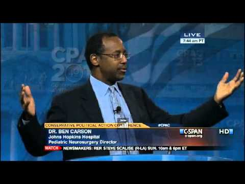 Dr. Benjamin Carson's Stirring Speech at CPAC 2013