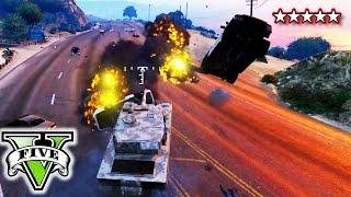 GTA 5 Funny Montage TANKS vs COPS | GTA V Funny Killing Cops Montage (GTA 5 Online)