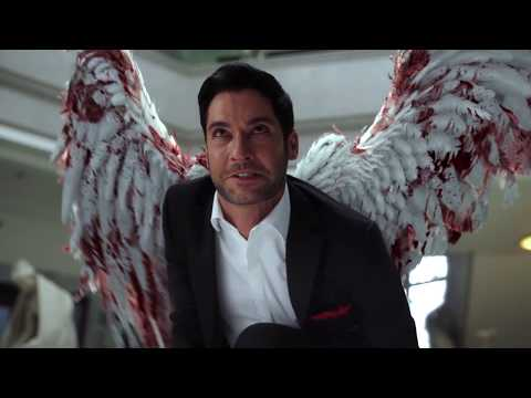 Lucifer 3x24 CHLOE SEES LUCIFER DEVIL FACE