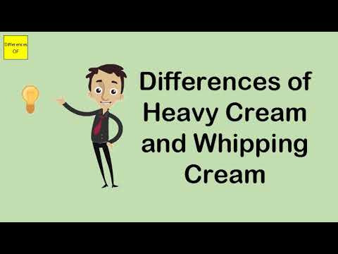 Differences Of Heavy Cream And Whipping Cream