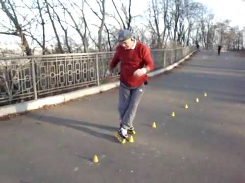 Russia - Unsuspecting Older Guy Skate Skills