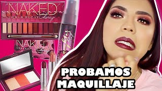 Download Lagu PROBANDO MAQUILLAJE NAKED CHERRY COLLECTION URBAN DECAY (TUTORIAL Y SWATCHES) • BEAUTYBYNENA Mp3