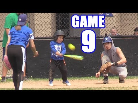 PLAYING ALL NINE POSITIONS IN ONE GAME!  On-Season Softball Series  Game 9