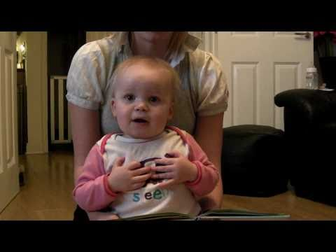 jimvwmoss - Erin at 17 months, rattling off her version of animal noises!