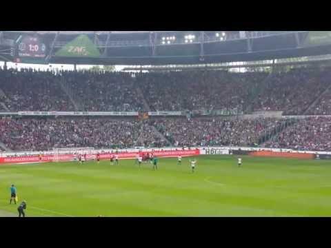 Hannover 96 - Werder Bremen 1:1 (1:0), Bundesliga 2014/15, 09.05.2015, Junuzovic Freistoß (видео)