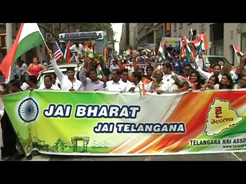 Telangana NRIs Independence Day Celebrations in New York : TV5 News