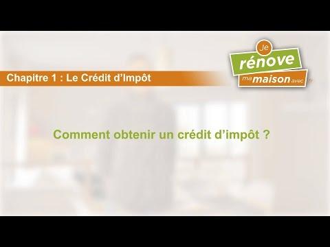 comment remplir credit d'impot