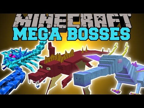 Minecraft: MEGA BOSSES (YOU WILL NOT SURVIVE!) Mod Showcase