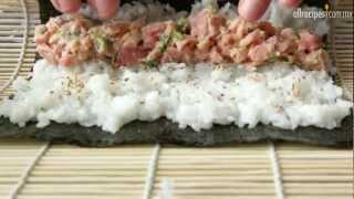 Cómo hacer sushi de atún rojo