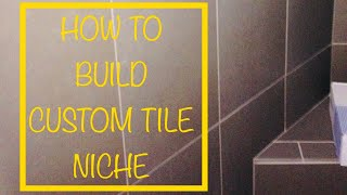 HOW TO INSTALL A TILE NICHE OR SHELF OR INSET SHELF