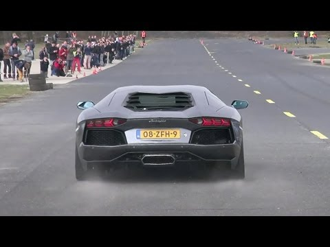 Lamborghini Aventador LP700-4 – Dragracing on a closed Airfield!