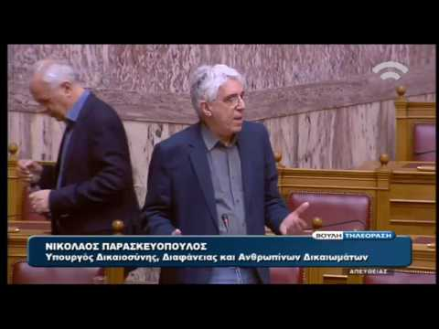 Ν. Παρασκευόπουλος: Υπό όρους παραγραφή αδικημάτων για τους αγρότες των μπλόκων
