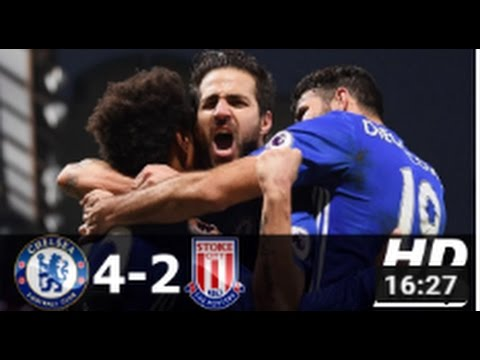 Chelsea vs Stoke City 4-2 - All Goals & Extended Highlights - EPL 31/12/2016 HD