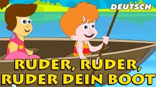 """Sehen Sie sich das beliebte Englisch Kinderlied """"Ruder, Ruder, Ruder dein Boot"""" und singen! Hooplakidz präsentiert Ihnen alle..."""