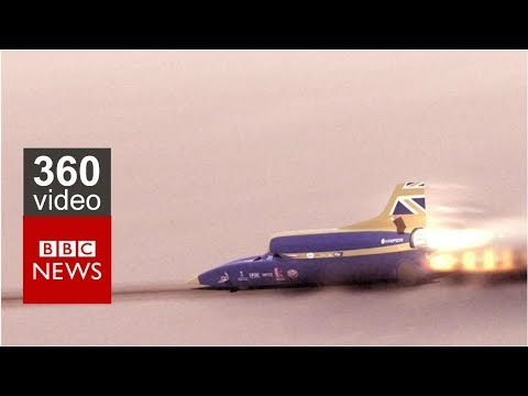 Bloodhound : Driving the world's fastest car in 360 video - BBC News