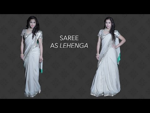 How to Wear a Saree as a Lehenga in 3 Easy Steps
