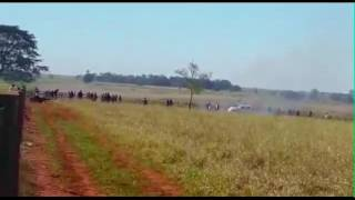 On 14 June 2016, group of gunmen attacked a Guarani tribal community in Mato Grosso do Sul state, southern Brazil, killing one man and wounding six others, i...