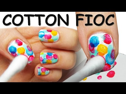 nail art - tutorial con il cotton fioc