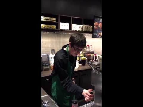Have you seen the dancing barista?