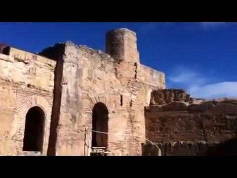 El interior del castillo de Forna Alicante