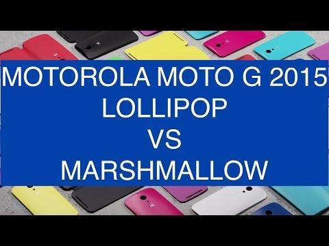 Motorola Moto G 2015 Marshmallow vs Lollipop ITA