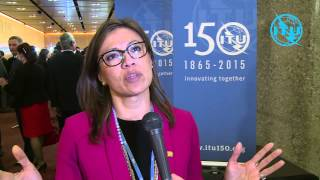 Interview with Gabriela Styf Sjöman, CTO of Telecom Italia Group at ITU 150th Anniversary Celebration, Geneva, Switzerland, ...