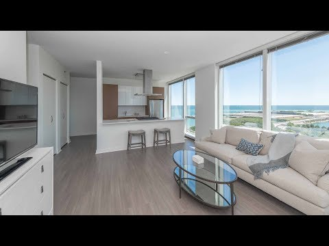 A southeast corner 1-bedroom model at the luxurious 500 Lake Shore Drive