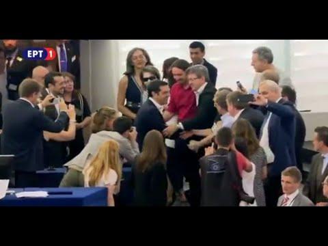 Η άφιξη του Πρωθυπουργού στο Ευρωκοινοβούλιο
